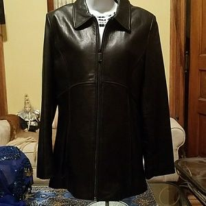 Kenneth Cole Black leather jacket